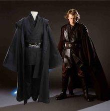 Star wars cosplay traje anakin skywalker réplica jedi robe fantasia masculino halloween cosplay jedi traje para homem mais tamanho 3xl