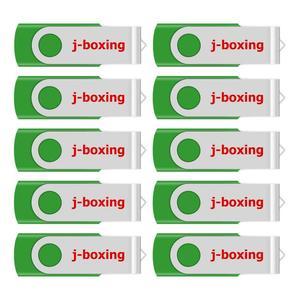 Image 1 - J boxing USB Storage Flash Drives 64MB 128MB Small Capacity Pendrive 256MB 512MB Metal Thumb Drives USB 2.0 Memory Green 10PCS