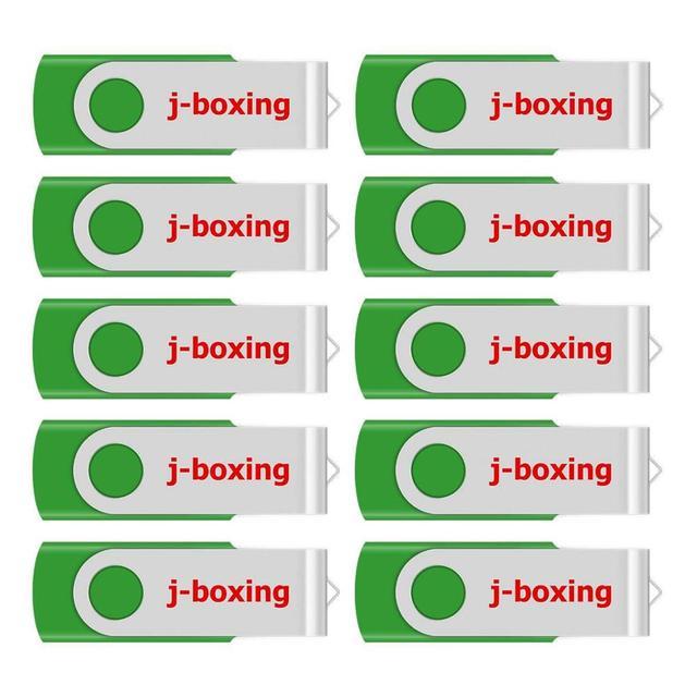 J boxing USB Storage Flash Drives 64MB 128MB Small Capacity Pendrive 256MB 512MB Metal Thumb Drives USB 2.0 Memory Green 10PCS