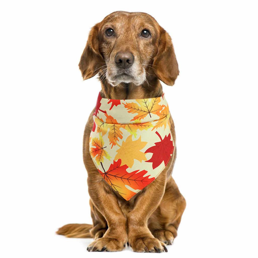 ליקוק לחיות מחמד רוק מגבת הודיה עם תלבושות תפאורה כובעי קטן חתול כלב כלב צעיף משולש תחבושת כלב סינר רוק מגבת