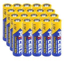 PKCELL – piles 1.5v AAA 3A R03P UM4, 20 pièces, carbone de Zinc, super-résistantes, sèches et primaires, compatibles avec UM4 MN2400 LR03
