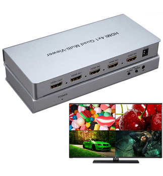 4X1 HDMI Multi-viewer HDMI Quad Screen Segmentation Picture Splitter Real Time Multiviewer Seamless Switch Switcher PC to HDTV