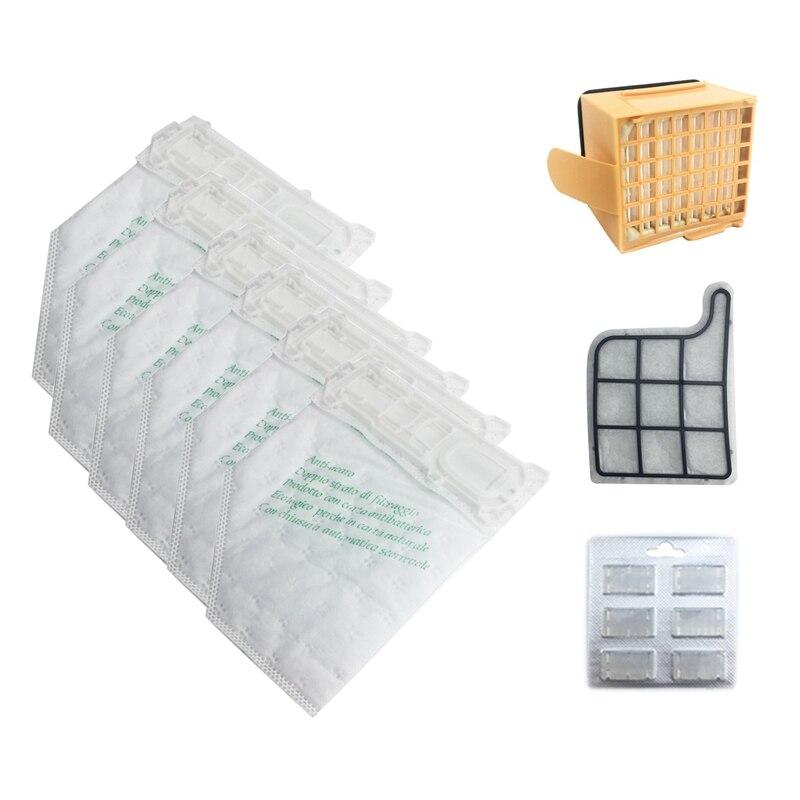 Ev Aletleri'ten Elektrikli Süpürge parçaları'de Toz torbaları filtre seti için yedek kiti Vorwerk VK135 VK136 369 elektrikli süpürge title=