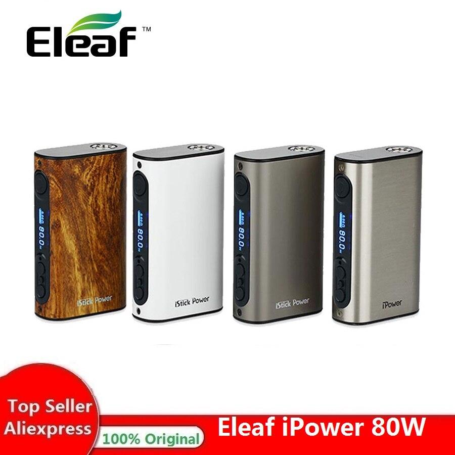 IPower 80W TC Eleaf Eleaf Istick MOD 5000mAh Bateria Cigarro Eletrônico Caixa Mod Para Melo 3 Ipower Tanque Vs IKuun I200