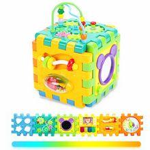 Aktywność dziecka zabawki dla malucha-6 w 1 kształt Sorter zabawki aktywność dziecka centra zabaw dla dzieci niemowlęta wczesny rozwój edukacyjny tanie tanio OOTDTY Z tworzywa sztucznego Unisex 3 lat Zbiornik Length 17 5cm(6 89in) Width 17 5cm(6 89in) Height 17 5cm(6 89in)