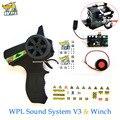 Управление обновлением WPL звуковая система V3 передатчик DIY приемник плата гудок запасные части Аксессуары Замена для WPL грузовика