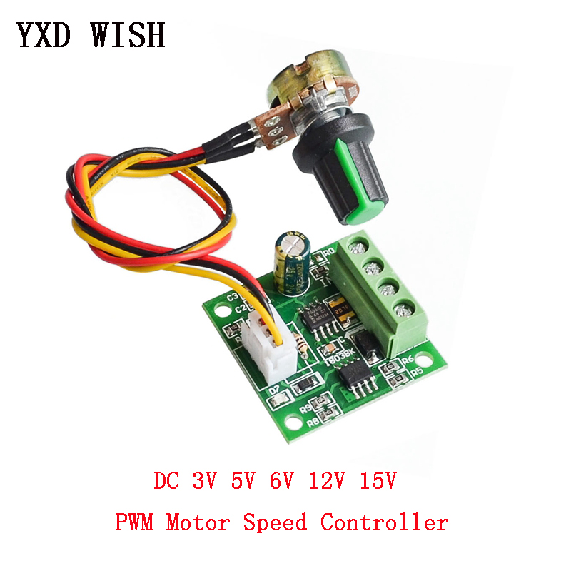 PWM DC Motor Speed Controller Automatic Regulator Control DC 1.8V To 3V 5V 6V 12V 15V 2A Low Voltage PWM Controller Module
