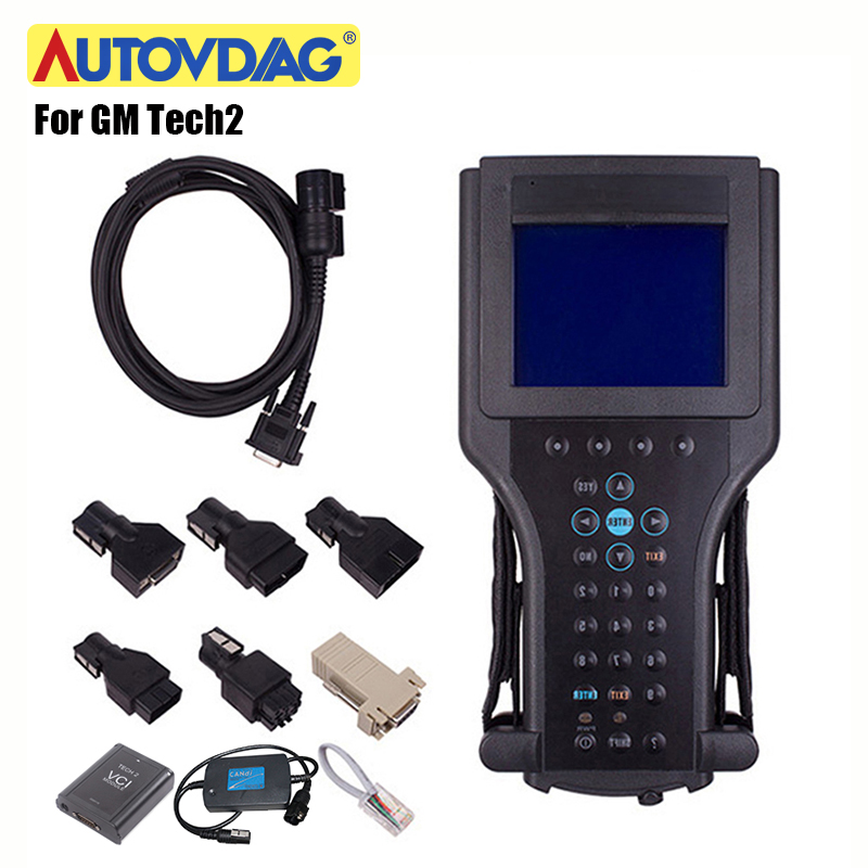 For GM Tech 2 OBD2 Scanner For GM Tech2 Card For GM/SAAB/OPEL/SUZUKI/ISUZU/Holden Car Diagnostic Tool With CANDI/VCI Carton Box