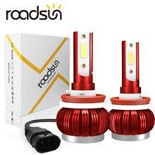 Roadsun車の電球led H4 H7 H1 9005 9006 H11 35 ワット 8000LM自動車ヘッドライト電球 6000 18k 12v 24vヘッドランプcobフォグライト電球