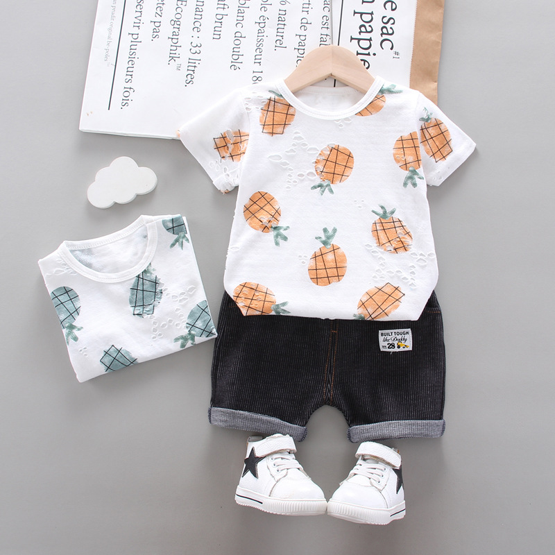 Baby Clothes Set Baby Boy Clothes Summer Toddler Infant Baby Boy Clothing Sets Casual Print T Shirt Shorts 2Pcs Kids Suit Outfit