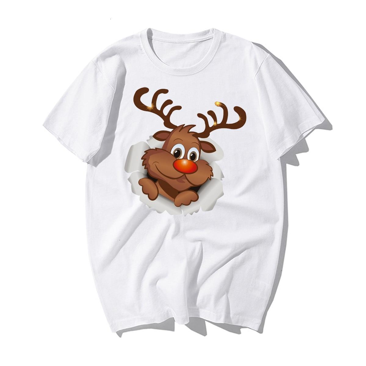 Funny Santa Claus Reindeer Lover CHRISTMAS GIFT T-SHIRT Happy New Year T Shirt Man Tshirt Merry CHRISTMAS Casual Cotton Kawaii 8