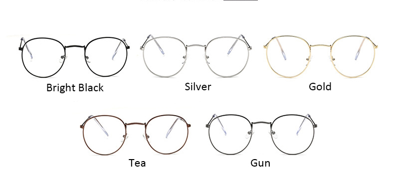 Fashion glasses frame Classic Round Women's Metal frame Optical Glasses Computer blue light Glasses oval eyeglasses frame Retro (11)