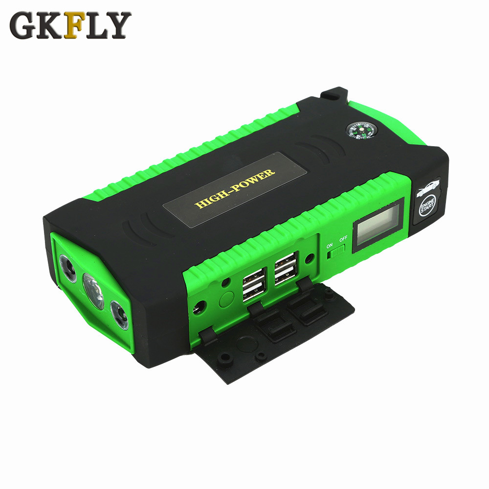 GKFLY スーパーパワー始動装置 12V 600A 車のジャンプスターターパワー銀行カーバッテリーブースターガソリンディーゼル LED