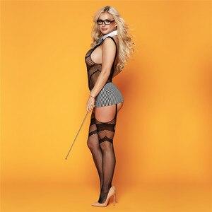 Image 4 - סקסי תלבושות נשים סקסי הלבשה תחתונה בגד גוף פורנו Babydoll המפשעה פתוח חזייה פתוח מפשעת בגד גוף חם ארוטית סקס תחתונים