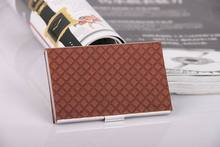 Card holder men's business ladies fashion creative stainless steel card case card holder chinese peking opera faces pattern stainless steel business card case