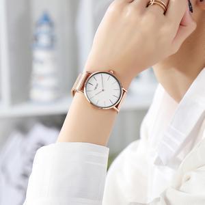 Image 3 - Women Watches Top Brand Luxury Japan Quartz Movement Stainless Steel Rose Gold Dial Waterproof Wristwatches relogio feminino