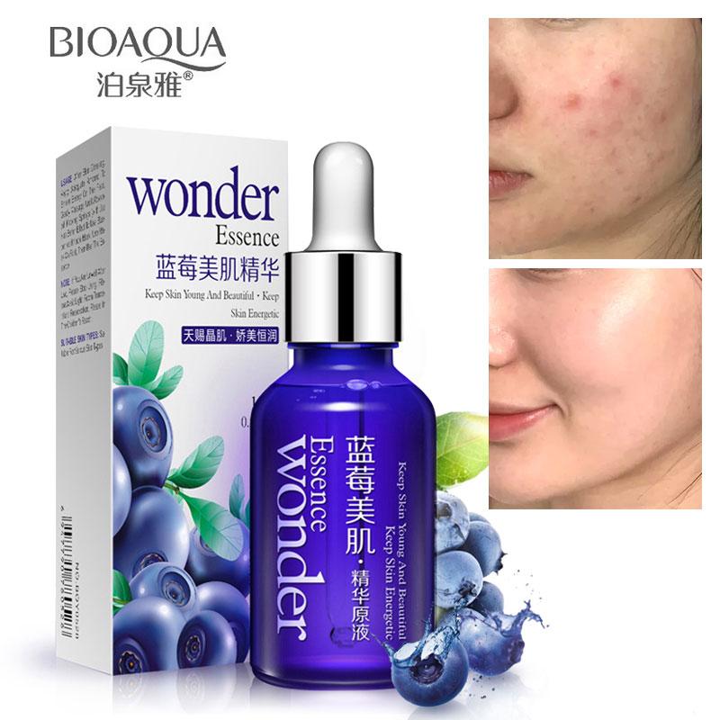 BIOAQUA Organic Blueberry Hyaluronic Acid Liquid Anti Aging Collagen Pure Essence Whitening Moisturizing Skin Care Day Cream Oil