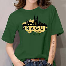 Camiseta maglia lembrança mappa praga repubblica ceca engraçado S-M-L-XL