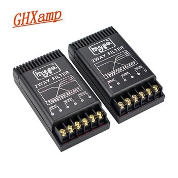 GHXAMP 80W 2 vías, altavoz Crossover para coche, retroadaptación Tweeter, altavoz de bajos, divisor de frecuencia MKT condensador de lámina de Metal 2,8 KHz 2 uds