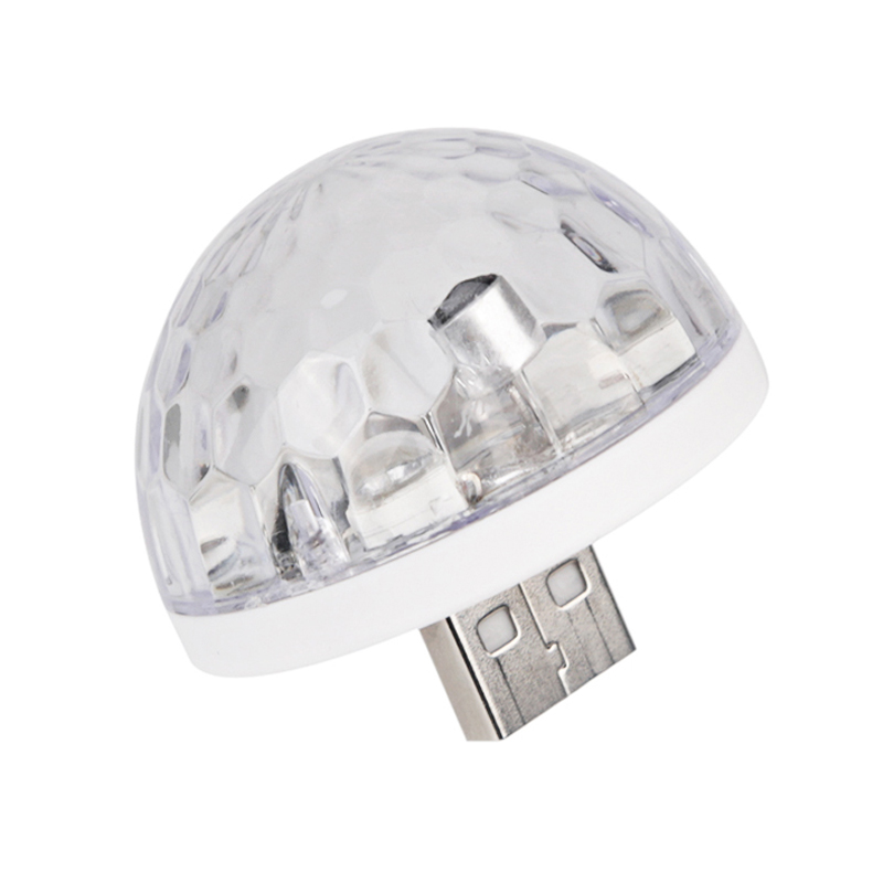 Usb Mini Led Disco Magic Light Ball Portable Karaoke Party Decor Lamp Dj Stage Bar White
