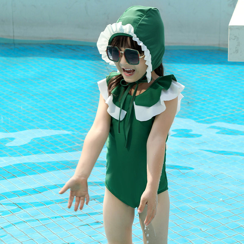 KID'S Swimwear GIRL'S Retro INS Baby Infant Quick-Dry Tour Bathing Suit Pool Cute Princess Children Swimwear