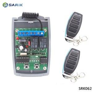 Image 2 - 2 ערוץ 12V 24V DC RF מקלט מתגלגל קוד משדר הפקודה מוסך שער מנוע מקלט 433.92 mhz עם שלט רחוק