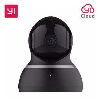 YI Dome Camera 1080P Pan / Tilt / Zoom Wireless IP Security Surveillance نظام كامل 360 درجة تغطية رؤية ليلية أسود