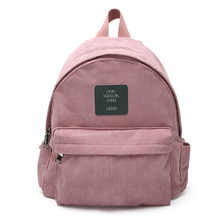 Corduroy Backpack Women Pure Color Travel red pink Bag Fashion  Backpack female corduroy student bag casual large capacity pack