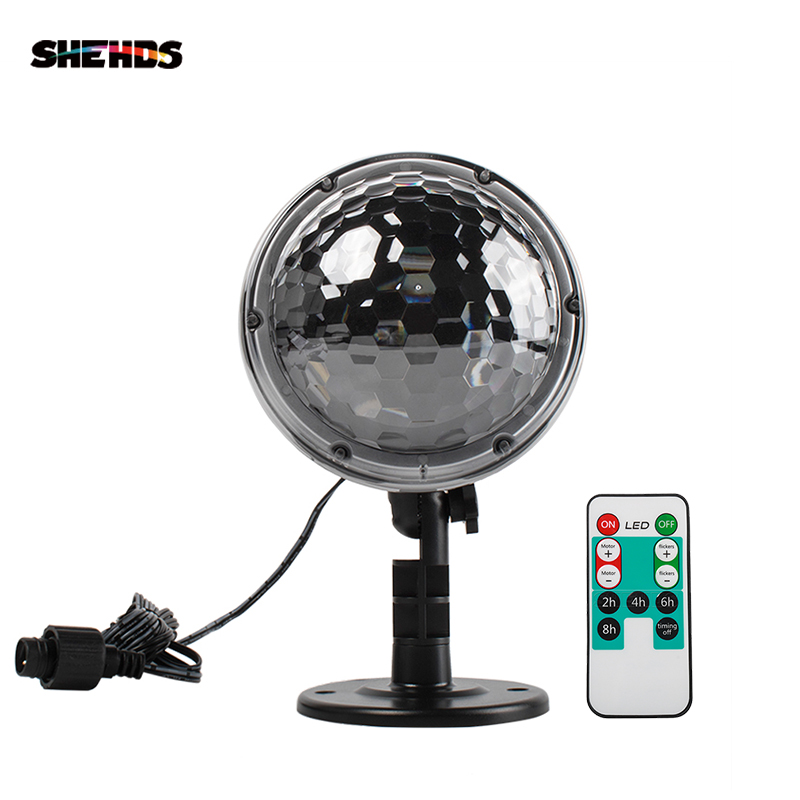SHEHDS Remote Control Snowing LED Projector LightGBYA Adjustable Base Waterproof Suitable All Holidays Christmas Effect Light