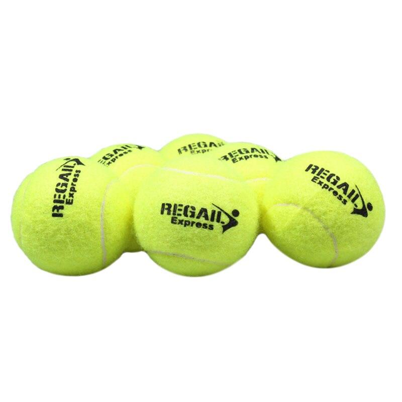 REGAIL 6 Pcs Tennis Balls For Training 100% Synthetic Fiber Quality Rubber Tennis Balls