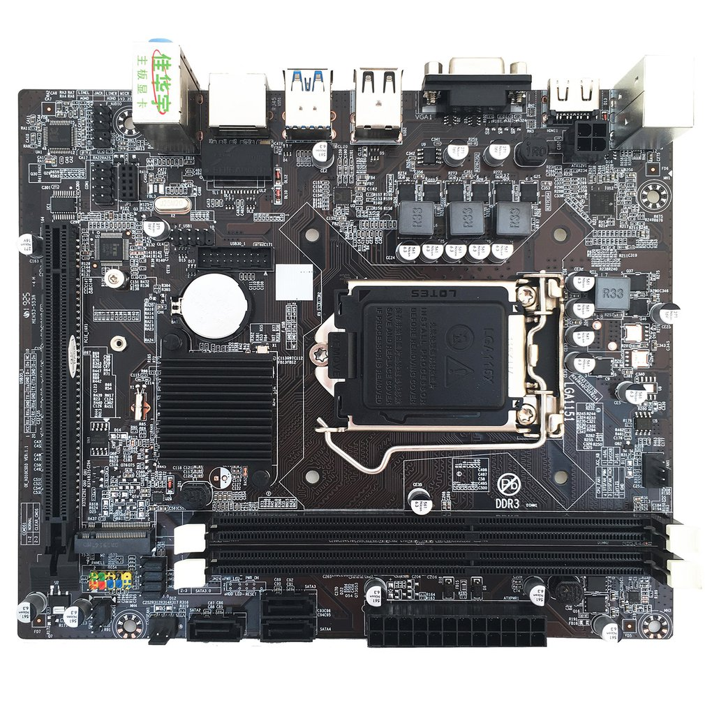 H310 Computer Motherboard LGA1151 DDR3 Hard Disk M.2 Core 6th, 7th, 8th Computer Motherboard 8 Channel Replacement