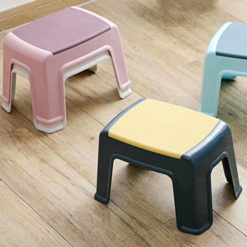 Contrasting Color Low Stool Baby Non-slip Step Stool Child Bath Stool Home Plastic Adult Shoe Changing Stool WF1204140