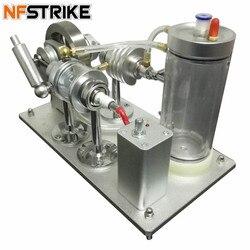 Самоциркуляционный спиртовой двигатель с водяным охлаждением Модель двигателя внутреннего сгорания строительные наборы игрушки для дете...