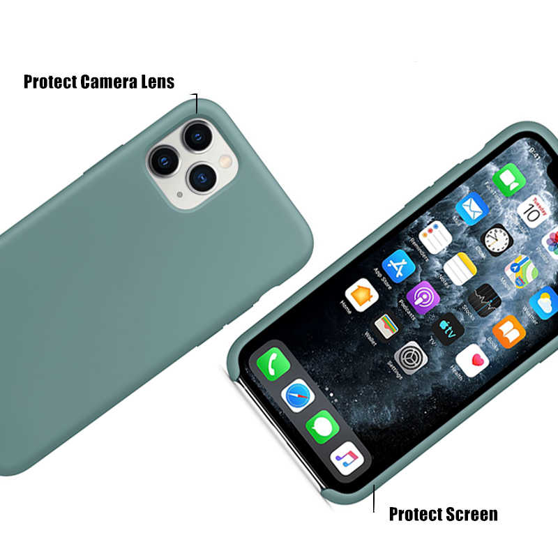 Oficial original caso de silicone para o iphone 7 8 6s mais caso de telefone para apple iphone 12 11 pro max xr xs max x se 2020 capa