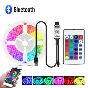 1/2/3/4/5M Bluetooth LED strip Light 5050SMD RGB backlight LED lamp tape For TV Music rhythm Lighting with 24 key remote control