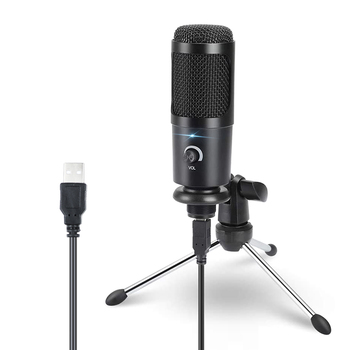 USB Condenser Microphone for Computer Karaoke Studio Microphone for bm 800 YouTube Gaming Recording mic with Stand Shock Mount cardioid directional condenser microphone for youtube broadcast gaming usb microphone for computer recording mic with stand