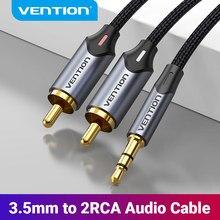 Vention Câble RCA 3.5mm à 2RCA Séparateur RCA Jack 3.5 Câble Audio RCA Câble pour Smartphone Amplificateur Home Cinéma Câble RCA