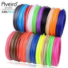 Aveiro filamento de plástico para impresora o bolígrafo 3d suministros de dibujo escolar, 50/100/200 metros, 1,75mm, ABS, PLA, relleno 3d