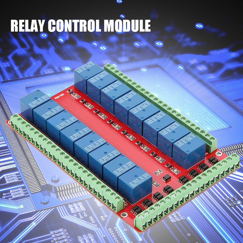 Isolated 16-way Relay Control Module Expanding Module High/Low-level Signal Release 5V 12V 24V OD889