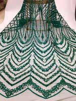 2019 Latest African Net Lace Fabric Hand make Nigerian Wedding Lace Fabrics 5Yards French Tulle Lace Fabric With Beads FJA24 6