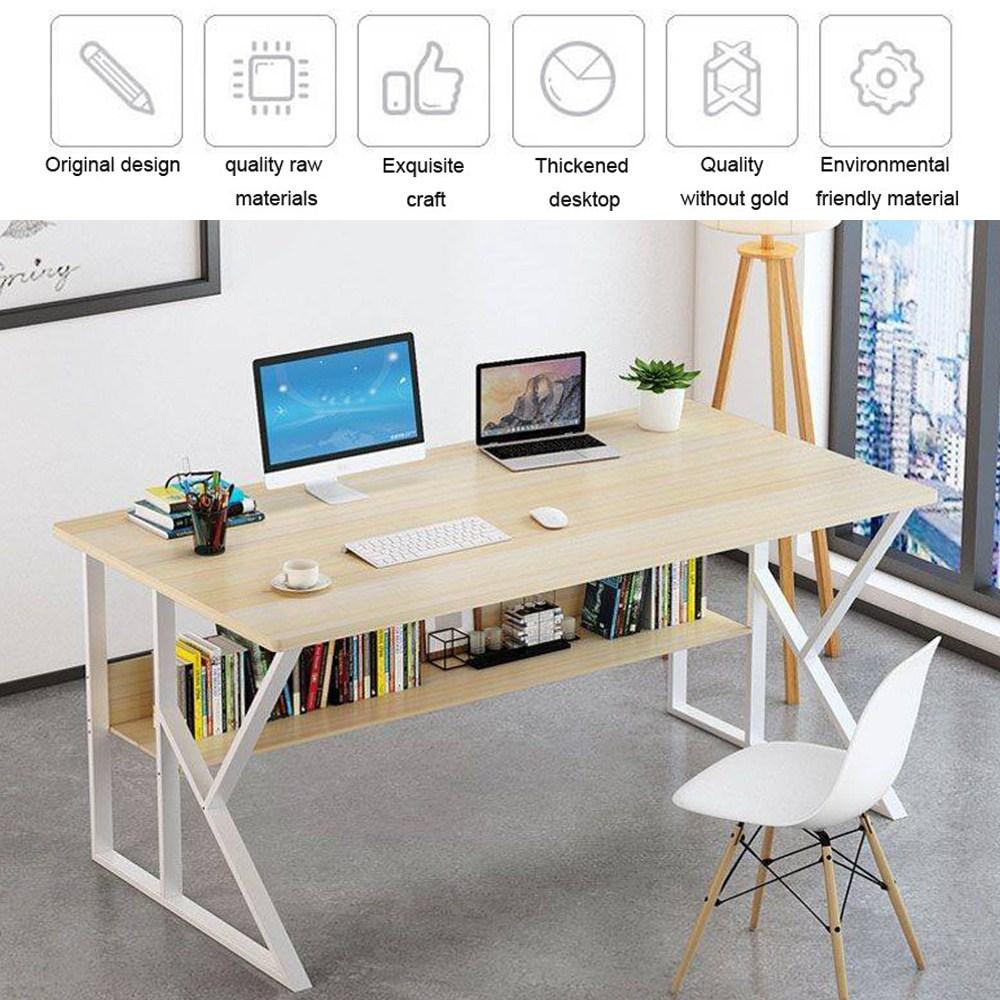 K-Shaped Legs Rack Design Home Desk, Student Simple Writing Desktop Desk Modern Economic Laptop Computer Desk