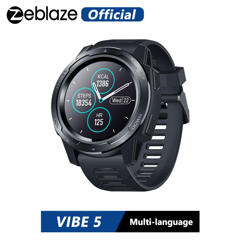 Zeblaze VIBE 5 IP67 Waterproof Heart Rate Long Battery Life Color Display Screen Multi-sports Modes Fitness Tracker Smart Watch(China)