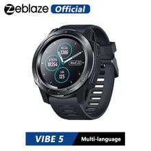 Zeblaze vibe 5 ip67 a prova d água, medidor de frequência cardíaca, bateria de longa duração, tela colorida, modos multi esportes, rastreador de fitness relógio de pulso