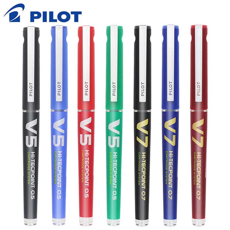 1 sztuk PILOT BXC-V5/V7 prosto płynny długopis żelowy 0.5/0.7mm kartridż do drukarki do ponownego napełnienia podpis egzamin końcówka igłowa o dużej pojemności