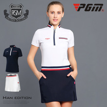 PGM Golf Clothes Ladies' Skirt Set Stitched Stripes Women Long Sleeve Tennis T-Shirt Dry Fit Ropa De Golf Sportswear