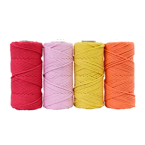 Image 3 - 4mmx110yards 100% Cotton Cord Colorful Rope Beige Twisted Craft Macrame String DIY Wedding Home Textile Decorative supply
