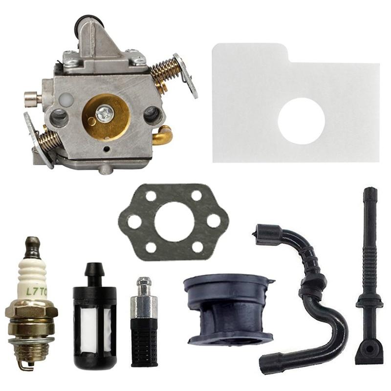 Карбюратор для Zama C1Q-S57 Fit Stihl 017 018 MS170 MS180 детали двигателя бензопилы 11301200603 фильтр топливная Свеча зажигания