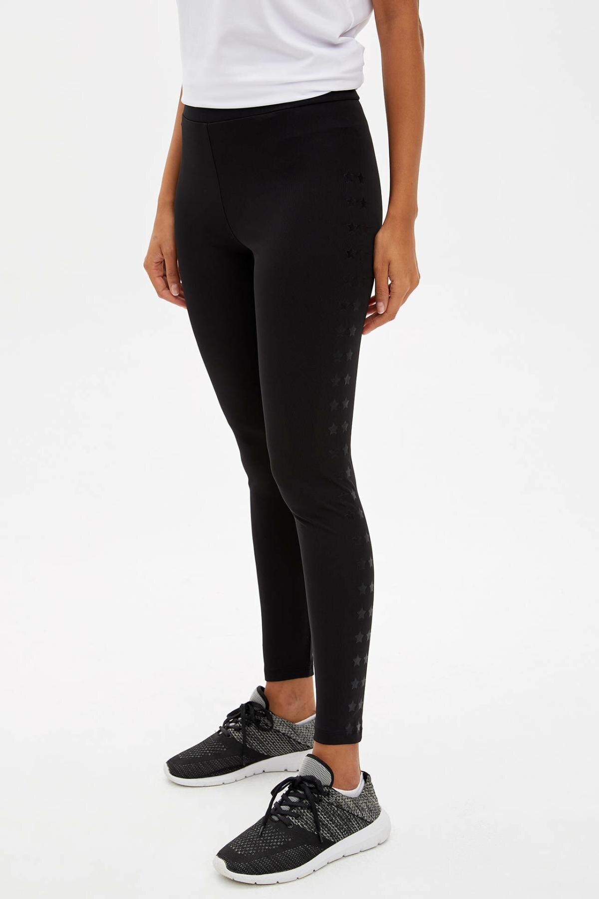 DeFacto Women Fashion Slim High Waist Casual Women's Skinny Black Trousers Ladies Leggings Leisure Crop Pants - M0678AZ19AU