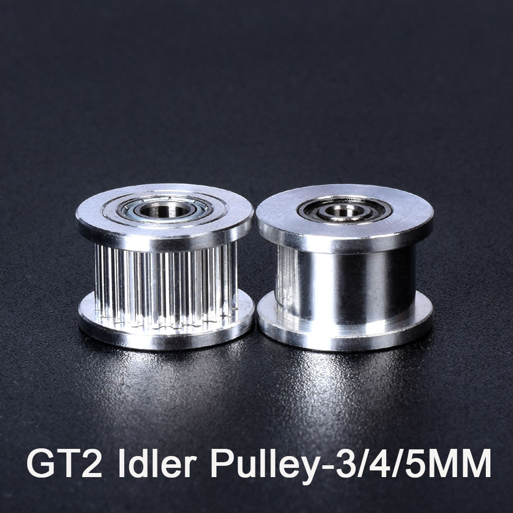 High Quality GT2 Idler Timing Pulley 20 Tooth Wheel Bore 3/4/5mm Gear with Teeth Width 6mm <font><b>3D</b></font> <font><b>Printer</b></font> Parts <font><b>Prusa</b></font> <font><b>i3</b></font> <font><b>MK3</b></font> Belt image