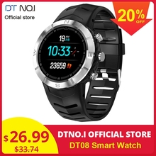 DTNO.I NO.1 DT08 Round Touch Screen Sport Smart Watch HRV Detection IP67 Waterproof Heart Rate Monitor Fashion Business Bracelet Smartwatch Women Men Outdoor Travel Long Life Battery
